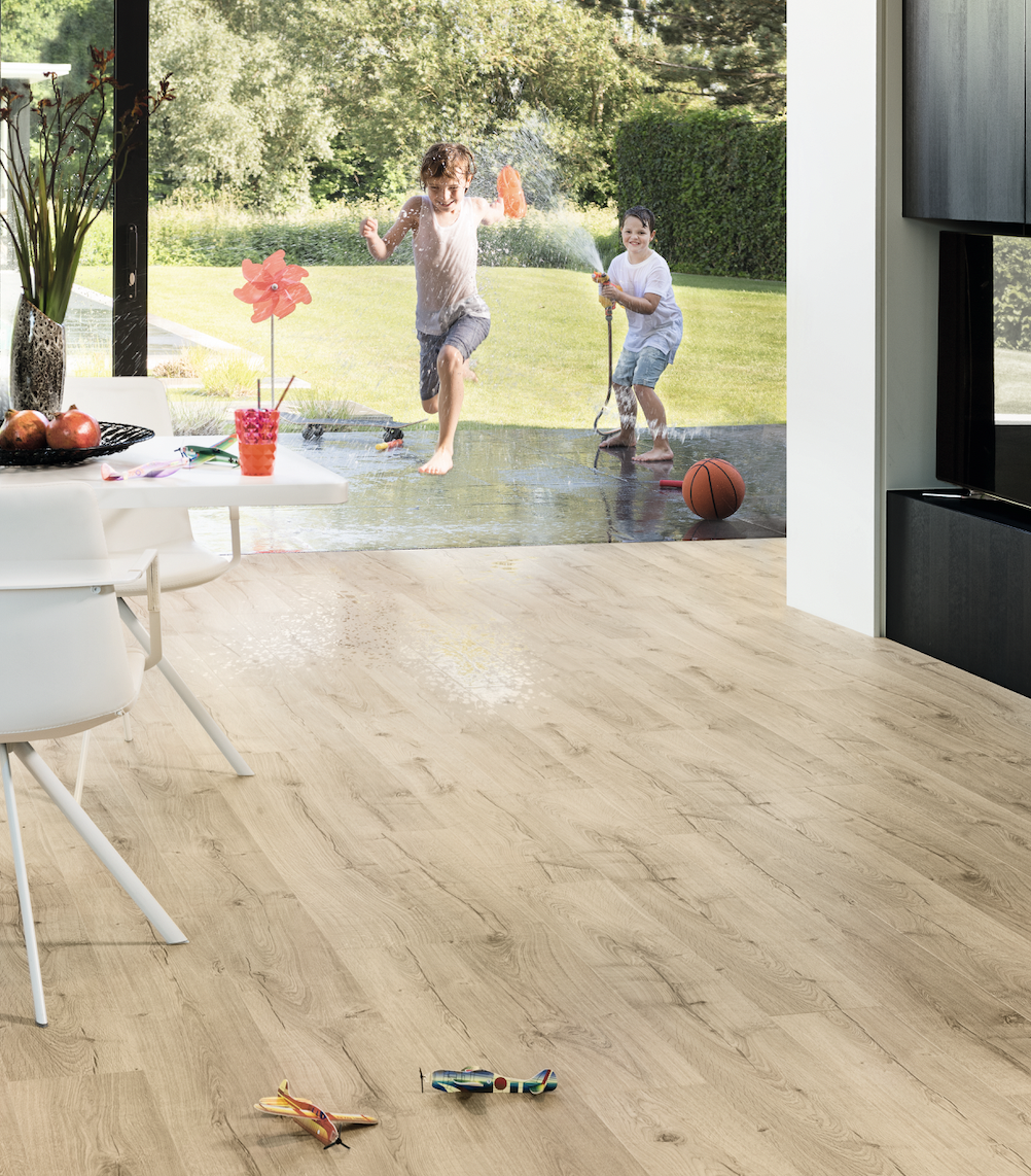 Parquet baño Quick Step